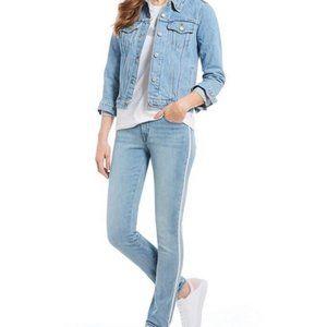 Levi's Classic Midrise Skinny Jeans Glitter Stripe